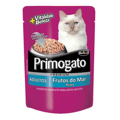 Primogato Sachê Sabor Frutos do Mar 85g