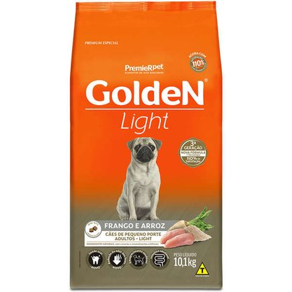 Ração Golden Formula Cães Adultos Light Mini Bits Frango e Arroz 10,1kg
